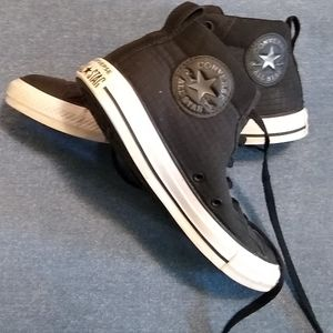 Converse Allstars Black Quilted Hightops M…